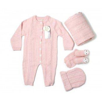 set-Salopeta roz de lana