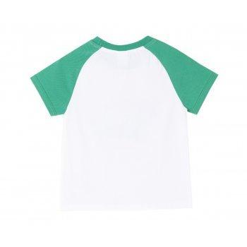 Tricou alb cu verde