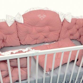 Set aparatori matlasate roz prăfuit 120\60 cm