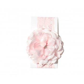 Bentita roz din dantela