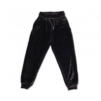 Pantaloni negri din catifea