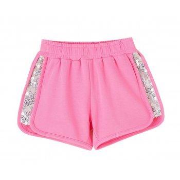 Pantaloni scurti roz cu paiete