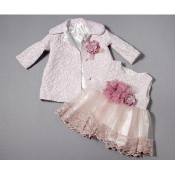 Rochie roz pudra pentru botez
