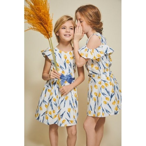 Rochie cu floricele galbene