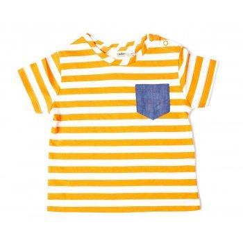 Tricou cu dungi portocalii