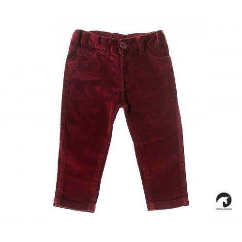 Pantaloni raiat grena