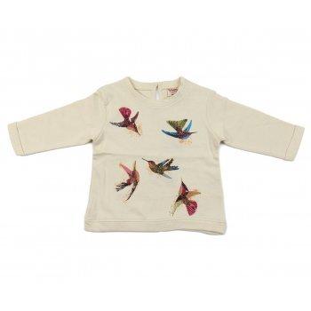 Bluza cu imprimeu pasarele