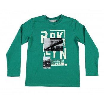 Bluza verde cu imprimeu