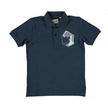 Tricou albastru inchis - Idokids