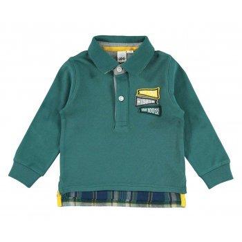 Bluza verde polo - Idokids