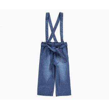 Pantaloni trei sferturi de blugi cu bretele - Idokids