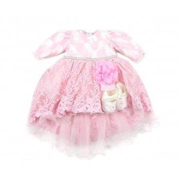 Rochie roz pentru botez