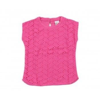 Tricou roz brodat