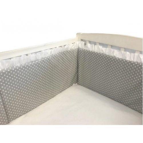 Aparatori laterale cu volanase si buline 140/70 inaltime 30 cm