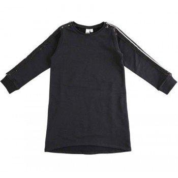 Bluza neagra tip rochie cu paiete - Idokids