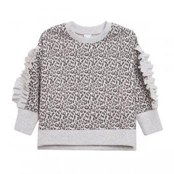 Bluza print zebrat cu volane