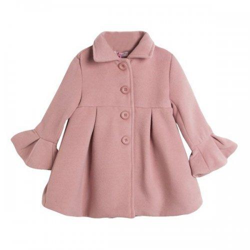 Palton roz pudra