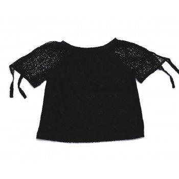 Bluza neagra brodata