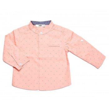 Camasa corai cu buline mici rosii