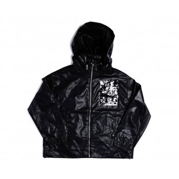 Jacheta neagra cu paiete reversibile