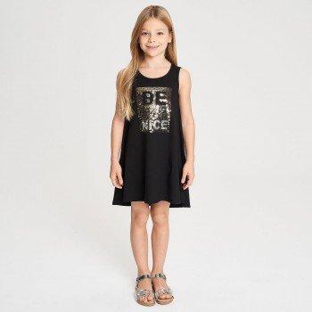 Rochie neagra cu paiete reversibile - iDO Kids
