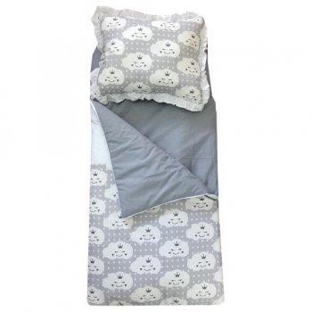 Sac de dormit buzunar de iarna 1-3 ani imprimeu norisori gri